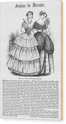Womens Fashion, 1851 Wood Print by Granger