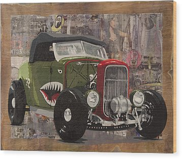 32 Ford Roadster Warhawk Wood Print by Josh Bernstein