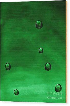 Drops Wood Print by Odon Czintos