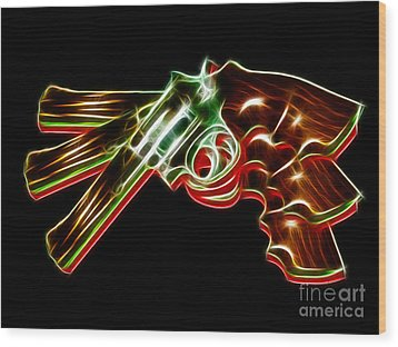 357 Magnum - Electric Wood Print by Wingsdomain Art and Photography