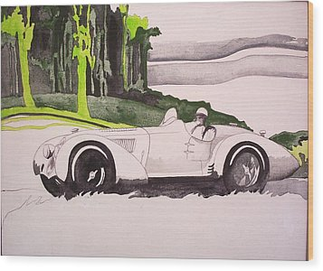Wood Print featuring the painting 36 Alfa  by Richard Willows