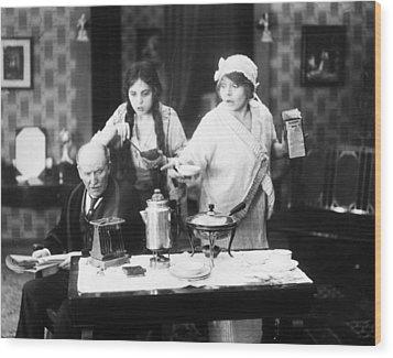 Film Still: Eating & Drinking Wood Print by Granger