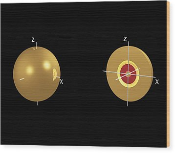 3s Electron Orbital Wood Print by Dr Mark J. Winter
