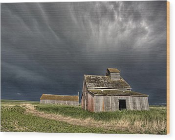 Abandoned Farm Wood Print by Mark Duffy