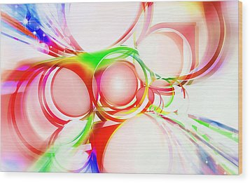 Abstract Of Circle  Wood Print by Setsiri Silapasuwanchai