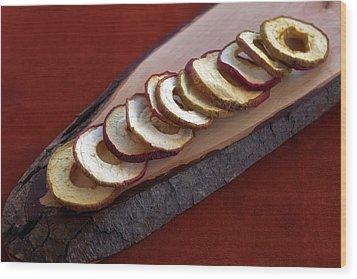 Apple Chips Wood Print by Joana Kruse