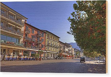 Ascona Wood Print by Joana Kruse