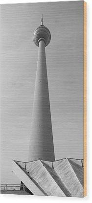 Berlin Tv Tower Wood Print by Falko Follert