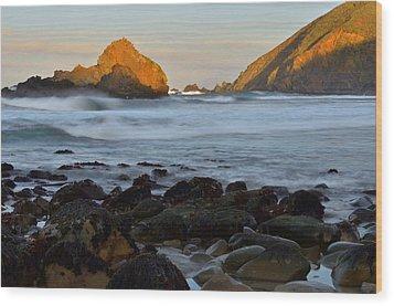 Big Sur Coastline Wood Print by Stephen  Vecchiotti