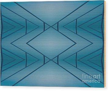 Blue Reflection Wood Print by Odon Czintos