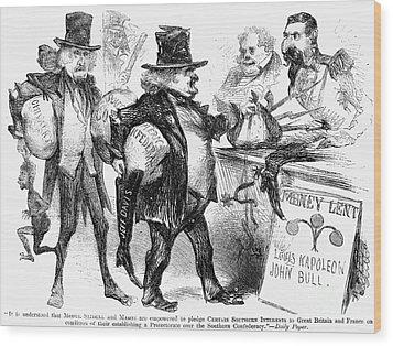 Civil War: Cartoon, 1861 Wood Print by Granger