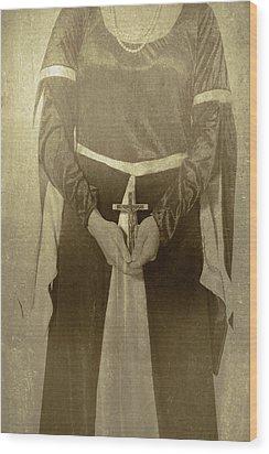 Crucifix Wood Print by Joana Kruse