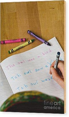 Dyslexia Testing Wood Print by Photo Researchers, Inc.