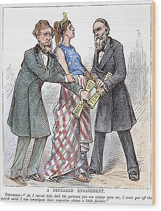 Election Cartoon, 1876 Wood Print by Granger