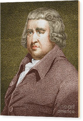 Erasmus Darwin, English Polymath Wood Print by Science Source