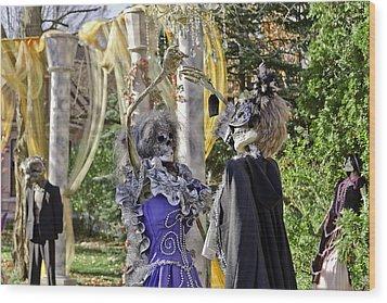 Fall  Halloween On Tillson Street Wood Print by LeeAnn McLaneGoetz McLaneGoetzStudioLLCcom