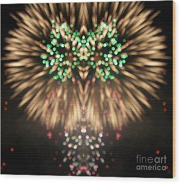 Firework Wood Print by Odon Czintos