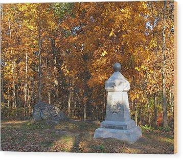 Gettysburg Three Days Battle   Wood Print by Valia Bradshaw