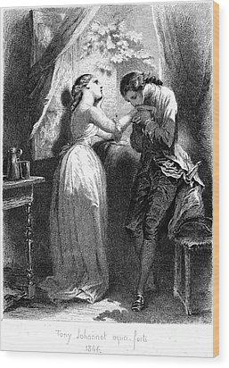Goethe: Werther Wood Print by Granger
