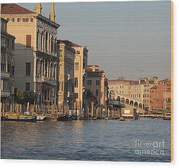 Grand Canal. Venice Wood Print by Bernard Jaubert