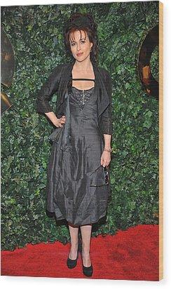 Helena Bonham Carter At Arrivals Wood Print by Everett