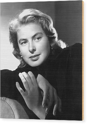 Ingrid Bergman, Portrait Wood Print by Everett