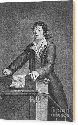 Jean-paul Marat (1743-1793) Wood Print by Granger
