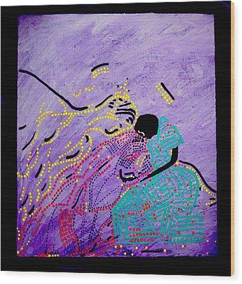 Jesus And Mary Wood Print by Gloria Ssali