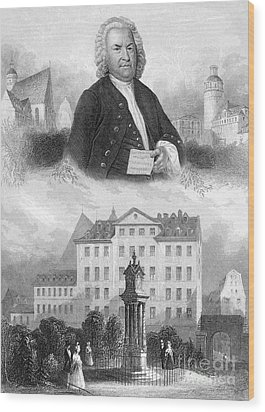 Johann Sebastian Bach Wood Print by Granger