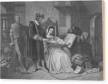 Johannes Gutenberg, German Inventor Wood Print by Photo Researchers