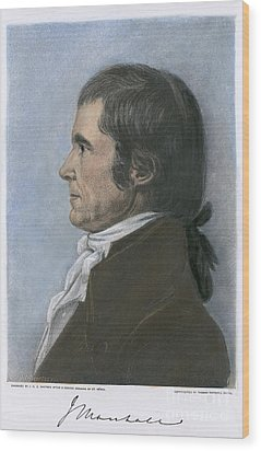 John Marshall (1755-1835) Wood Print by Granger