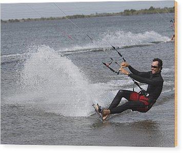 Kite Boarding Wood Print