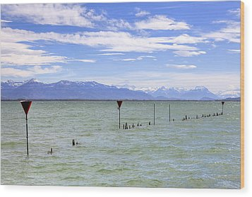Lake Constance Wood Print by Joana Kruse