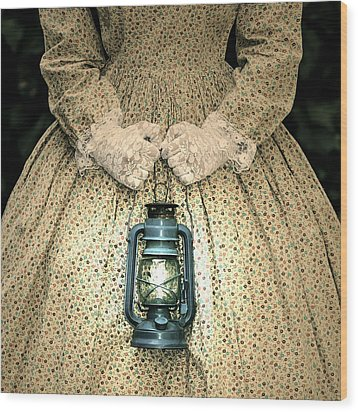 Lantern Wood Print by Joana Kruse