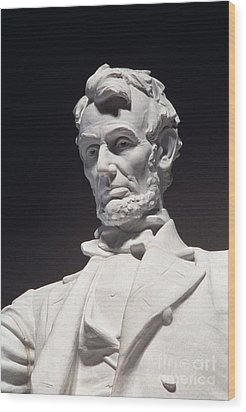 Lincoln Memorial: Statue Wood Print by Granger