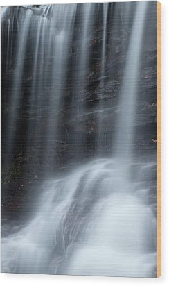 Misty Canyon Waterfall Wood Print by John Stephens
