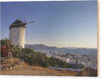 Mykonos Wood Print by Joana Kruse