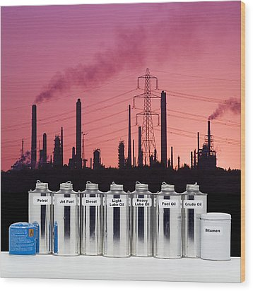 Oil Products Wood Print by Paul Rapson