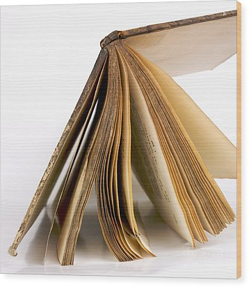 Old Book Wood Print by Bernard Jaubert