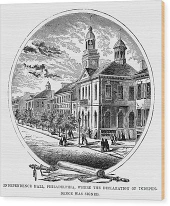 Philadelphia State House Wood Print by Granger