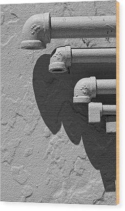 Pipes Wood Print by Robert Ullmann