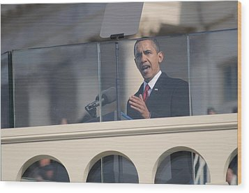 President Obama Delivers His Inaugural Wood Print by Everett