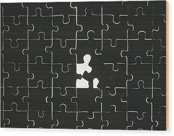 Puzzle Wood Print by Joana Kruse