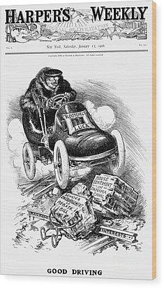 Roosevelt Cartoon, 1906 Wood Print by Granger
