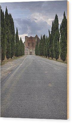 San Galgano Wood Print by Joana Kruse