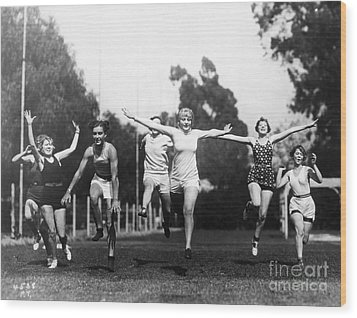 Silent Film Still: Sports Wood Print by Granger