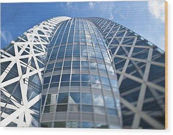 Skyscrapers In Tokyos Shinjuku Wood Print by Eddy Joaquim
