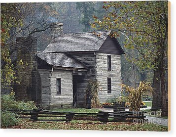 Spring Mill State Park - Indiana Wood Print by Jack R Brock