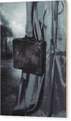 Suitcase Wood Print by Joana Kruse