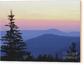 Summer Solstice Sunrise Wood Print by Thomas R Fletcher